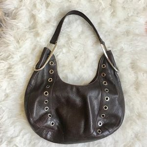 Furla dark brown leather hobo